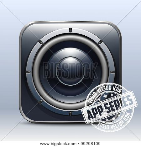 Audio Speaker Icon. App Series