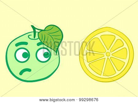 Apple and lemon