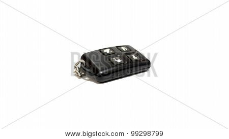 Keychain car alarm on a white background