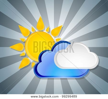 Weather Icon Template, Vector