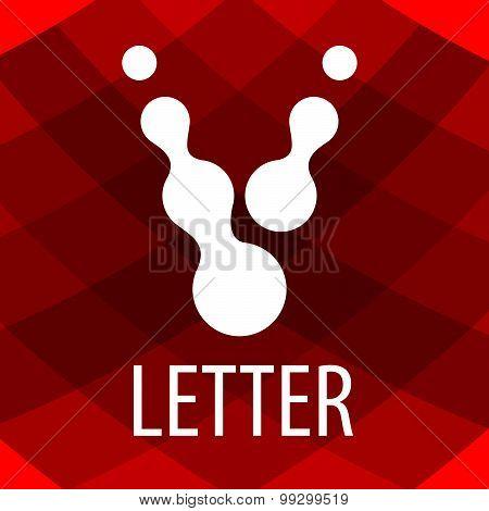 Vector Logo Letter V In The Form Of Drops