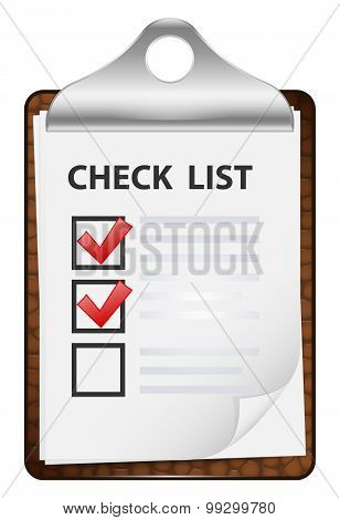 Clipboard With Check List. Vector Icon 2