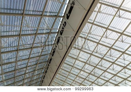 Roof Structure Detail Of Charles De Gaulle Airport In Paris
