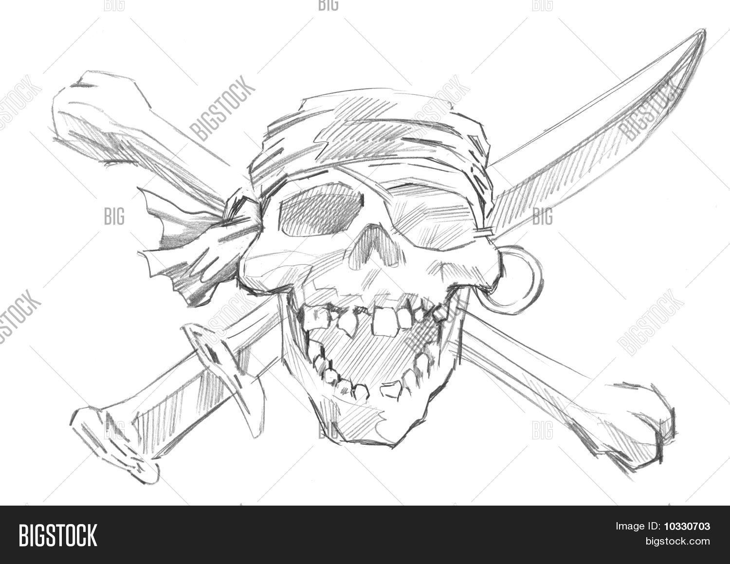 hand drawn pirate skull image u0026 photo bigstock