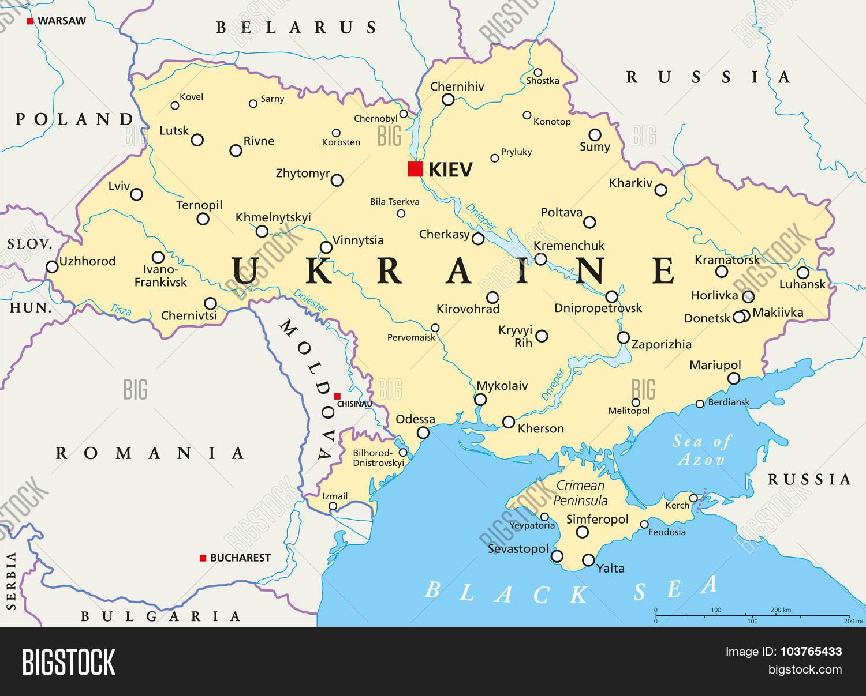 Ukraine Political Map Vector Photo Bigstock - Ukraine political map