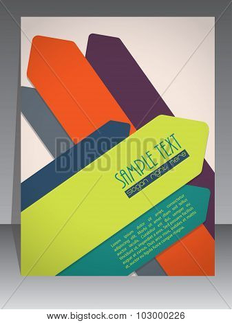 Colorful Brochure Design With Arrow Elements