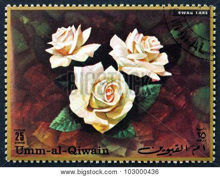 Postage Stamp Umm Al-quwain 1972 Roses, Flowers