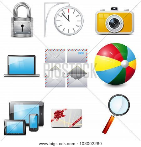 Set 14 Vector Realistic Icons