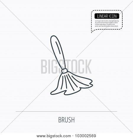 Brush icon. Paintbrush tool sign.