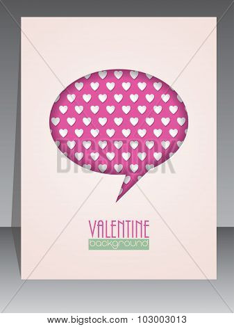 Greeting Card With Speech Bubble For Valentines Day