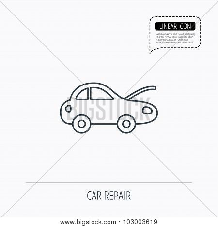 Car repair icon. Mechanic service sign.