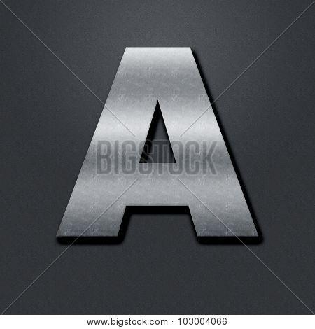 Letter Shabby Metal Chromium - A