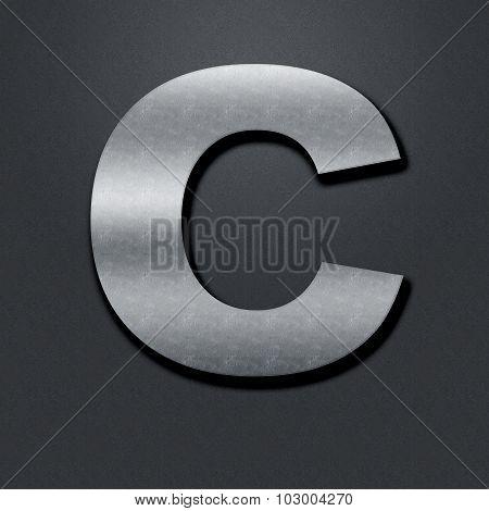 Letter Shabby Metal Chromium - C