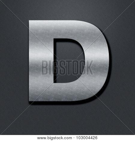 Letter Shabby Metal Chromium - D