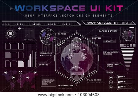 UI hud infographic interface web elements