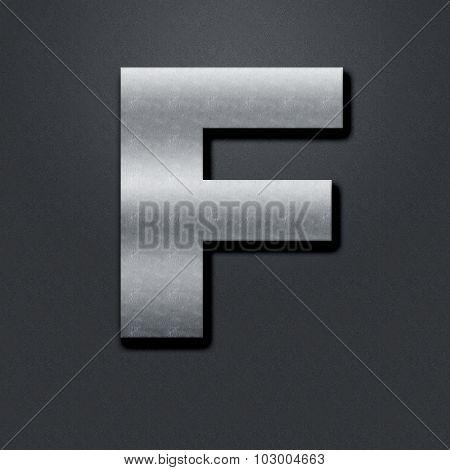 Letter Shabby Metal Chromium - F
