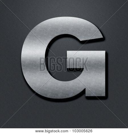 Letter Shabby Metal Chromium - G