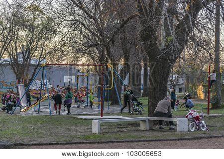 Children Games Park In Montevideo Uruguay