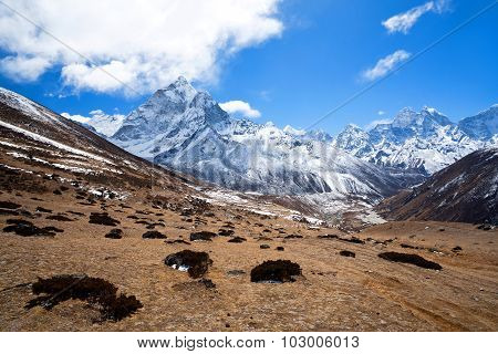 Mountain Landscape In Sagarmatha National Park, Nepal