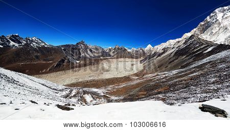 Panorama Of Mountains In Sagarmatha National Park