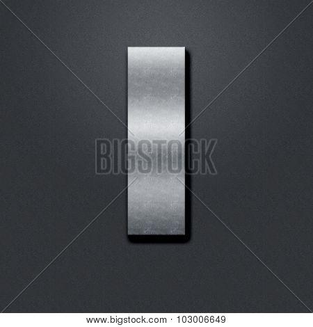 Letter Shabby Metal Chromium - I