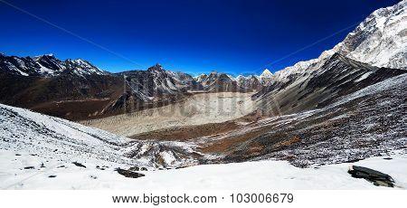 Panorama Of Mountains In Sagarmatha National Park