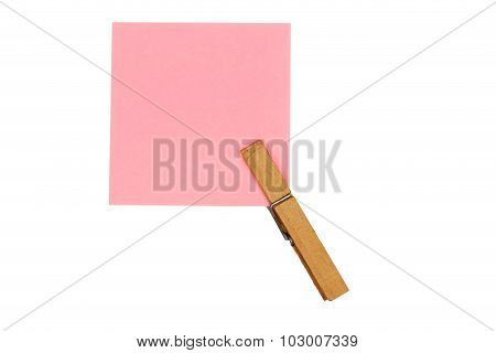 Peg With Paper