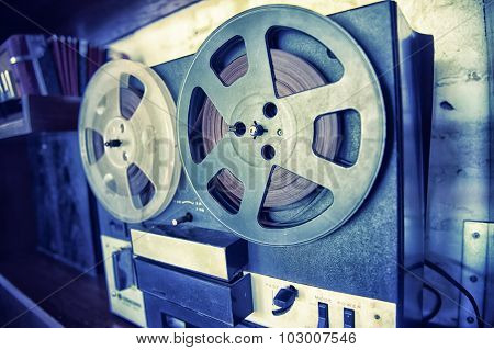 Retro Audio Tape Recorder Player, Vintage Effect