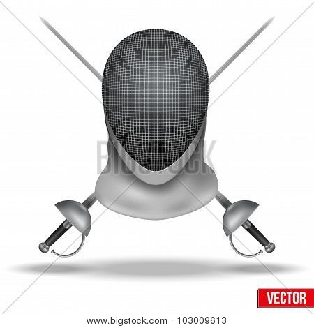 Fencing vector background