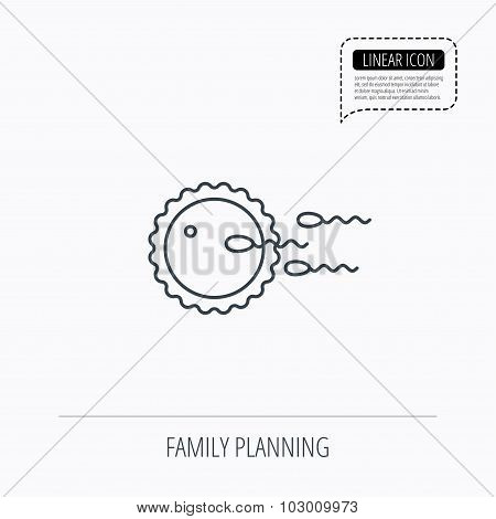 Family planning icon. Fertilization sign.