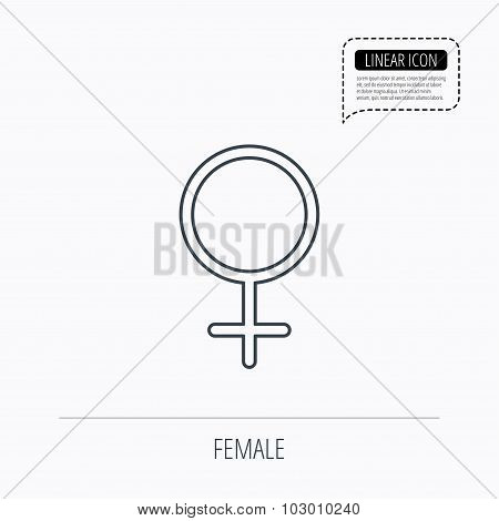 Female icon. Women sex sign.