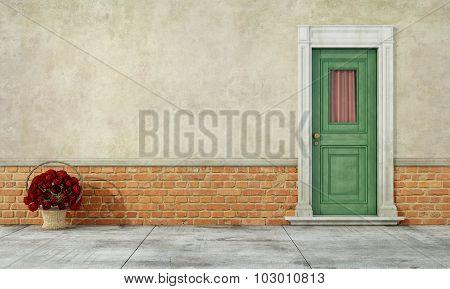 Old Facade With Front Door