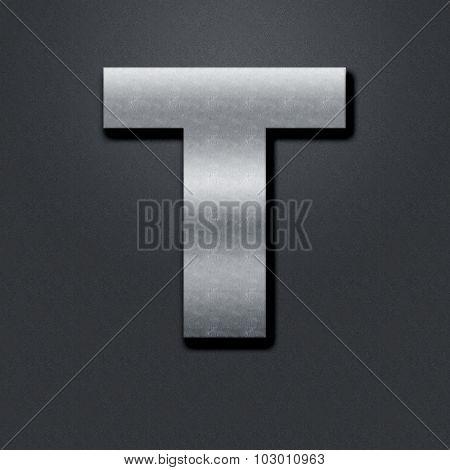 Letter Shabby Metal Chromium - T