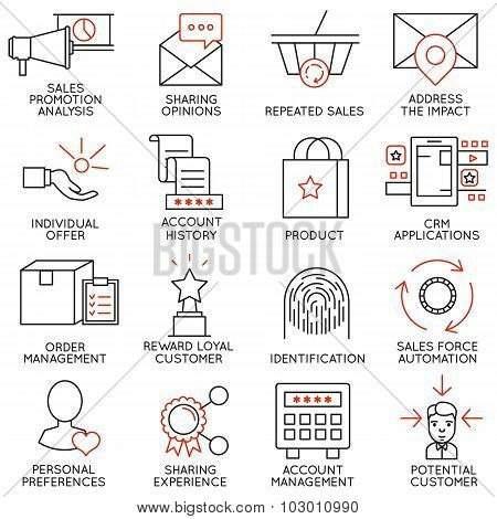 Vector Set Of 16 Icons Related To Business Management - part 14