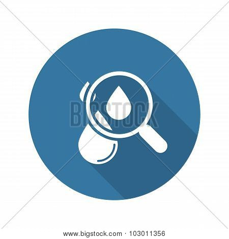 Hematology Icon. Flat Design.