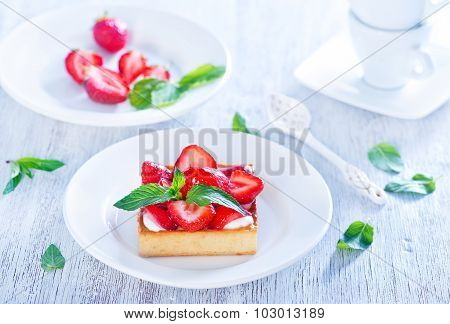 Cake With Strawberry