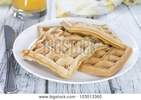 Portion Of Fresh Made Waffles