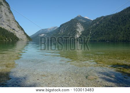 Koenigssee Lake And Mountains