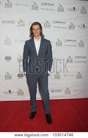 LOS ANGELES - SEP 26:  Lucas Till at the Catalina Film Festival Saturday Gala at the Avalon Theater on September 26, 2015 in Avalon, CA
