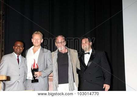 LOS ANGELES - SEP 26:  Delious Kennedy, Award Winners, Robert Englund, Ron Truppa at the Catalina Film Festival Saturday Gala at the Avalon Theater on September 26, 2015 in Avalon, CA