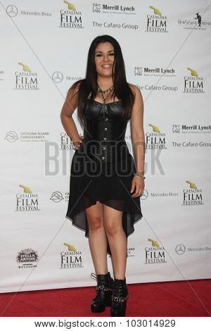 LOS ANGELES - SEP 26:  Melissa Campos at the Catalina Film Festival Saturday Gala at the Avalon Theater on September 26, 2015 in Avalon, CA