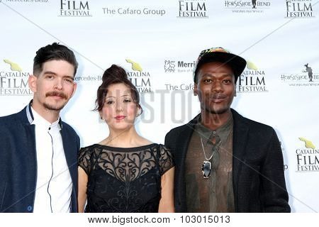 LOS ANGELES - SEP 26:  Idan Menin, Roya Aryanpad, Dean Lucas at the Catalina Film Festival Saturday Gala at the Avalon Theater on September 26, 2015 in Avalon, CA
