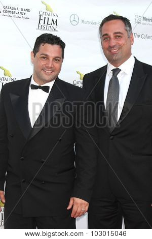 LOS ANGELES - SEP 26:  Ron Truppa, Carl Cafaro at the Catalina Film Festival Saturday Gala at the Avalon Theater on September 26, 2015 in Avalon, CA