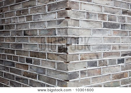 Corner Of Gray Brick Wall