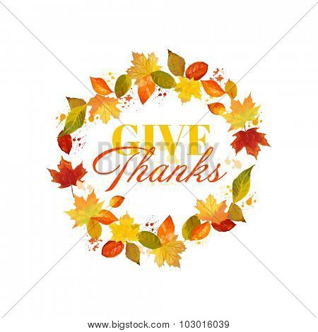 Happy Thanksgiving Day Background - for flyer, poster, banner - in vector