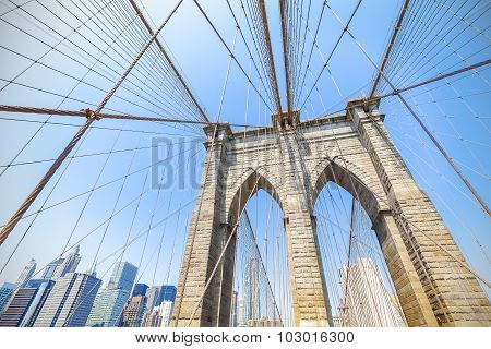 Brooklyn Bridge In New York City, Usa.