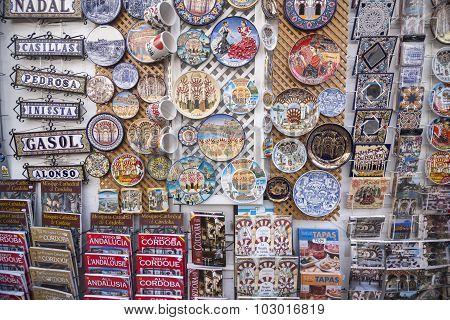 Ceramic Plates, Cordoba, Cordoba Province, Andalucia, Spain