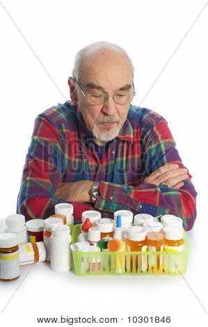 Senior Citizen With Prescription Bottles