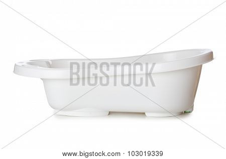 Small tub isolated on the white