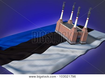 national heavy industry concept - Estonian theme